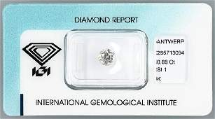 Loose old cut diamond 088 ct