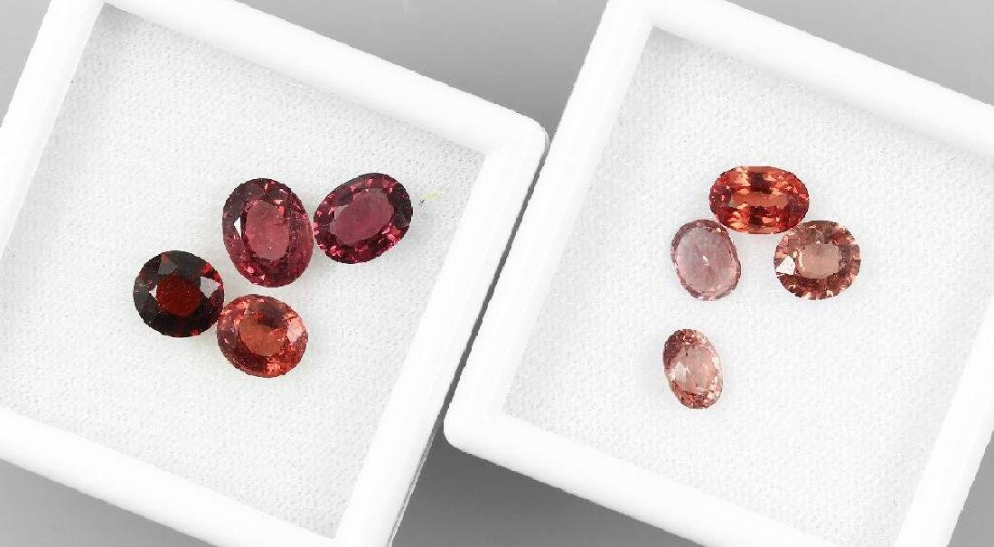 Lot 8 loose spinels, total 11 ct