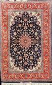 Part-Silk Isfahan-Davari Rug (Signed),