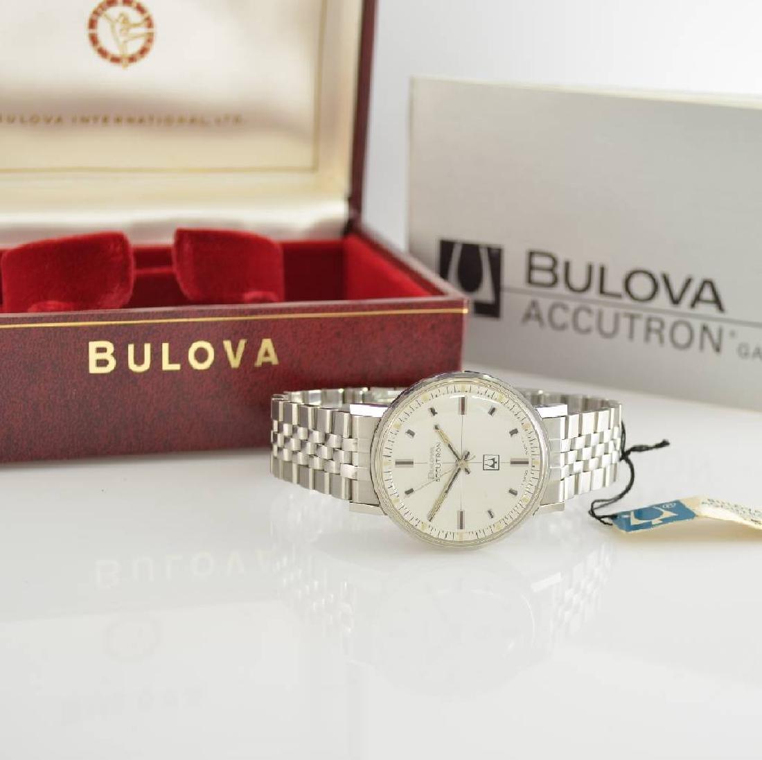 BULOVA Accutron unworn gents wristwatch in steel