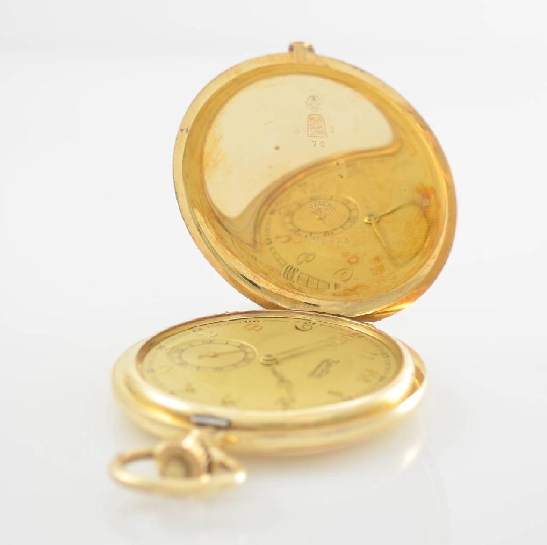 ZENTRA/TAVANNES 14k yellow gold hunting cased pocket - 3