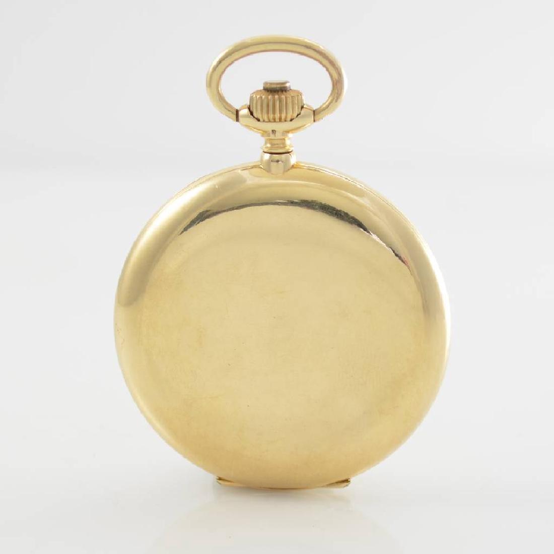 ZENTRA/TAVANNES 14k yellow gold hunting cased pocket - 4