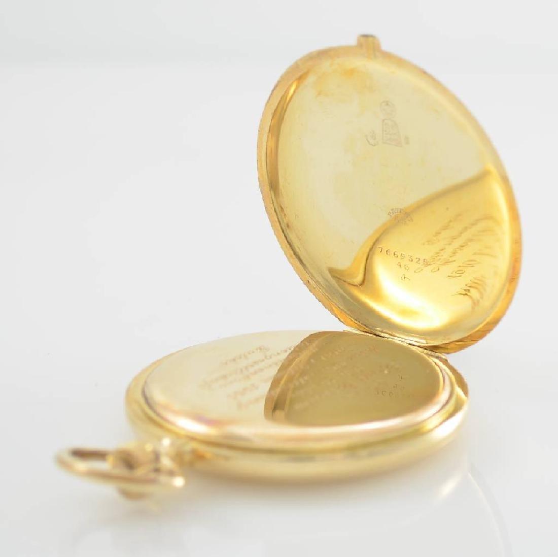 ZENTRA/TAVANNES 14k yellow gold hunting cased pocket - 5