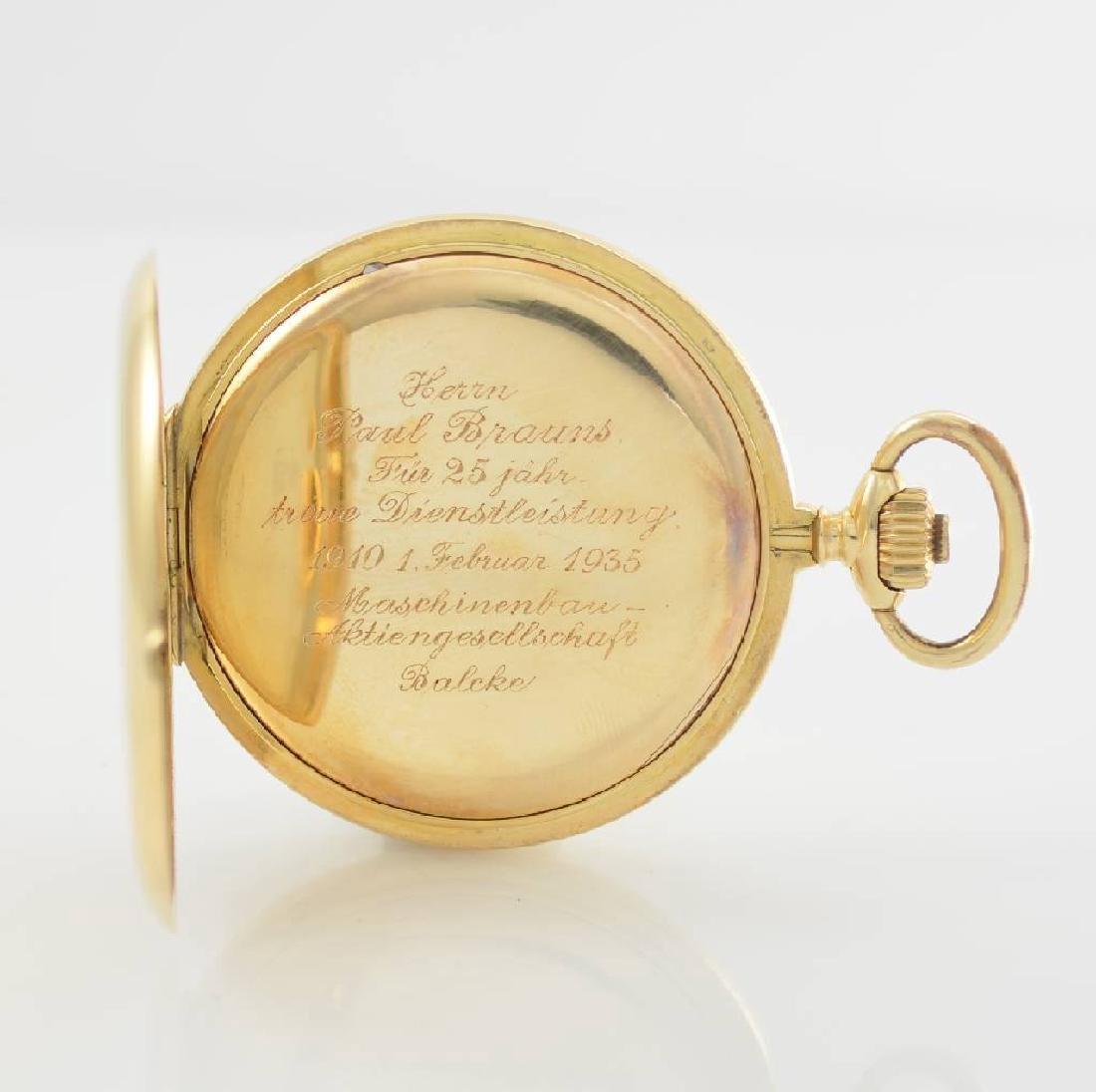 ZENTRA/TAVANNES 14k yellow gold hunting cased pocket - 6