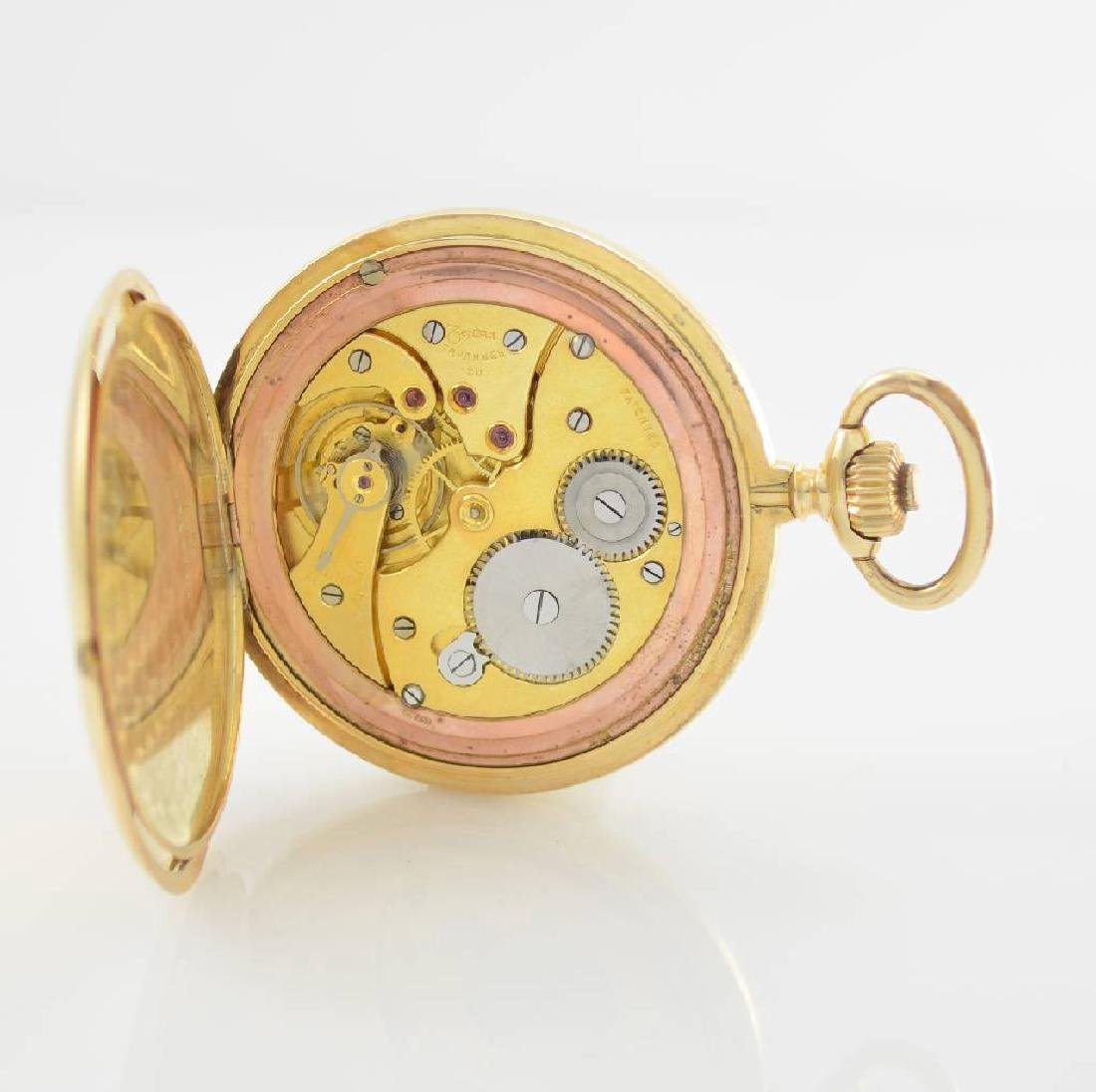 ZENTRA/TAVANNES 14k yellow gold hunting cased pocket - 7