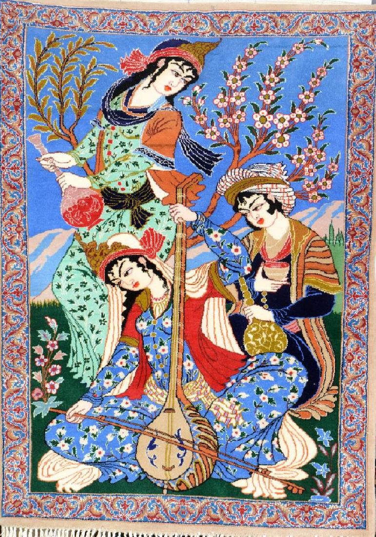 Isfahan Rug 'Part-Silk' (Pictorial),