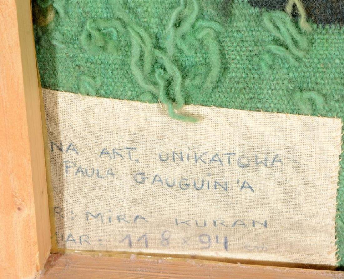 Tapestry by 'Mira Kuran' (Paul Gauguin Motive), - 5