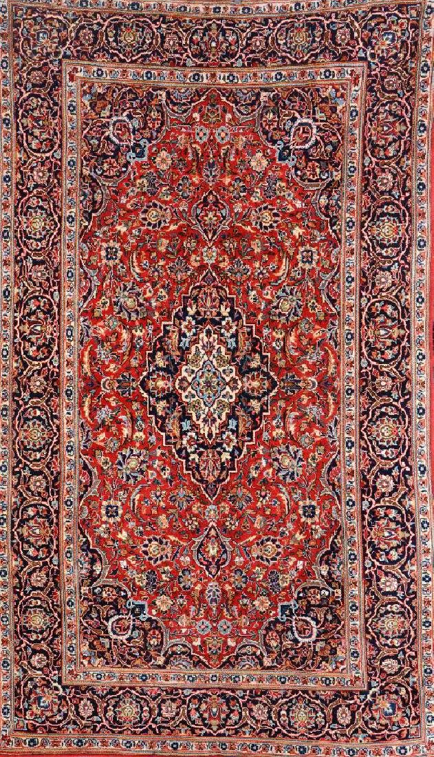 Kurk Kashan Rug 'Part-Silk',