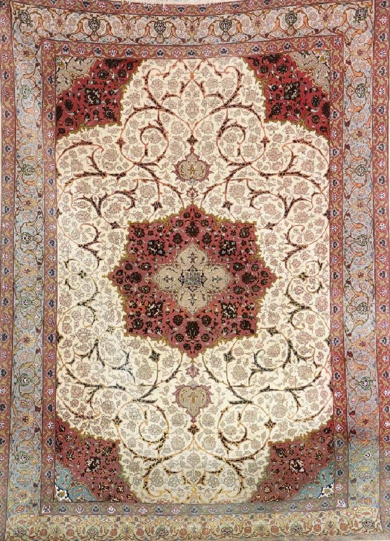 Tabriz 'S.Talebi' Carpet 'Part-Silk' (Signed) '60 RAJ',