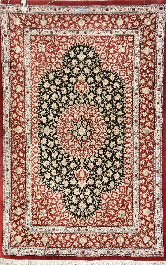 Silk Qum Rug (Signed),