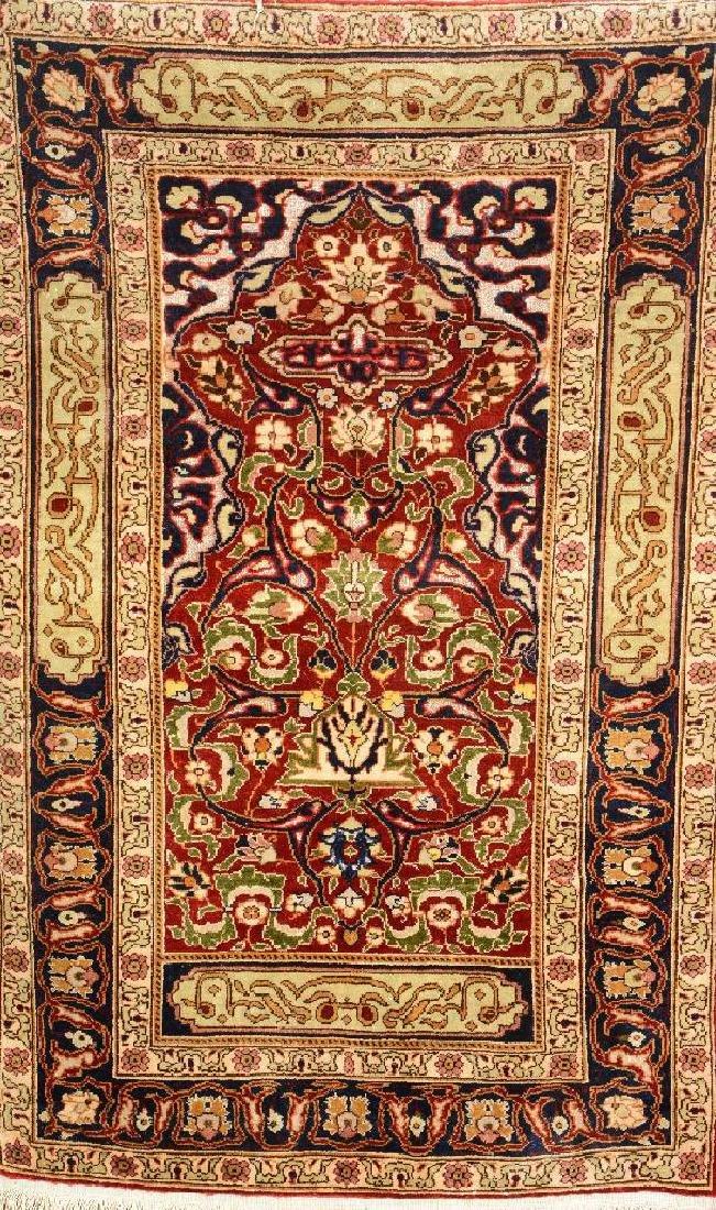 Silk & Metal-Thread Kaisery Rug,