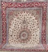 Large Isfahan Carpet (Part-Silk),