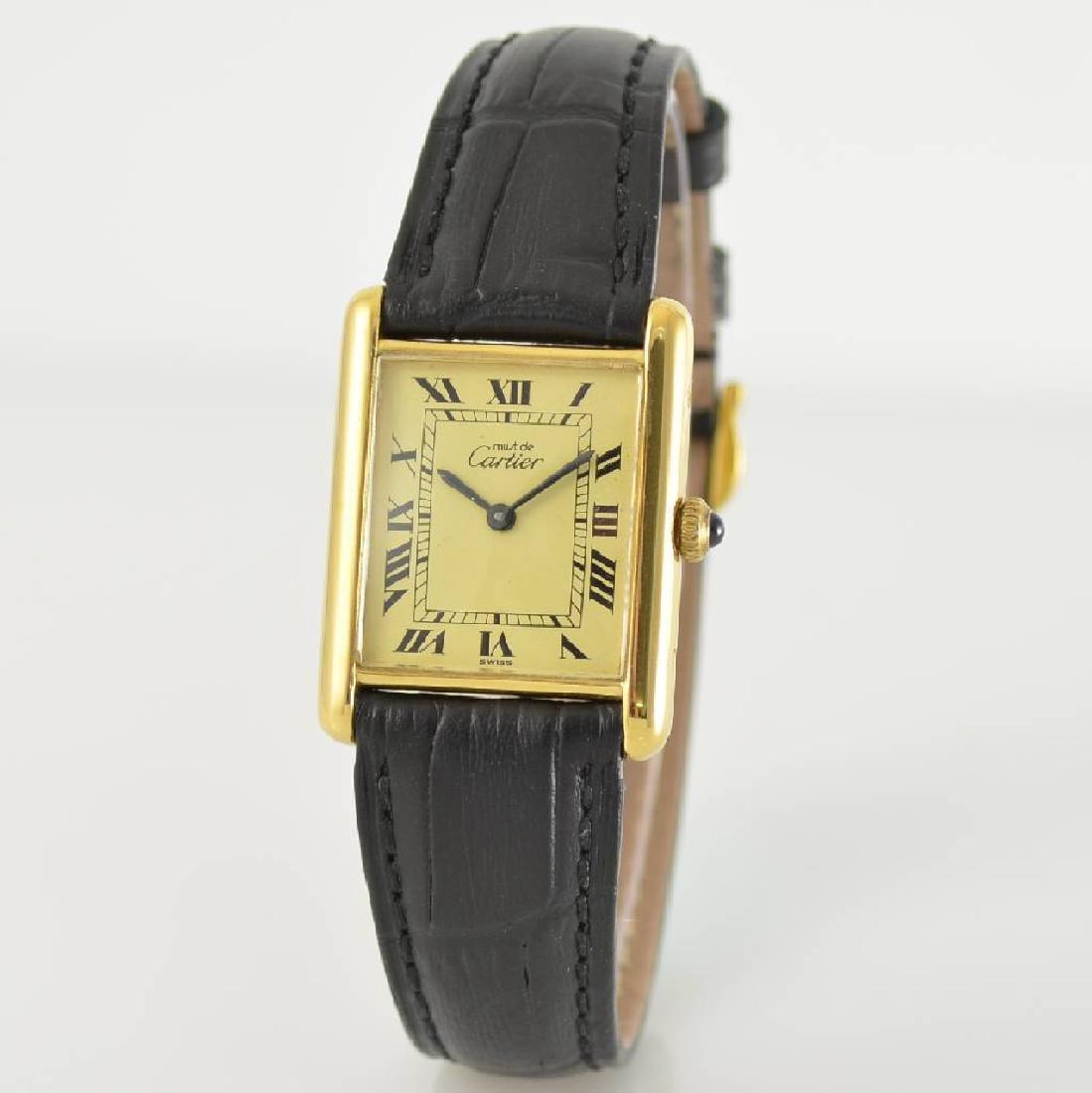 CARTIER Tank wristwatch, Switzerland around 1980 - 3