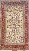 'Part-Silk' Isfahan Rug (Signed),