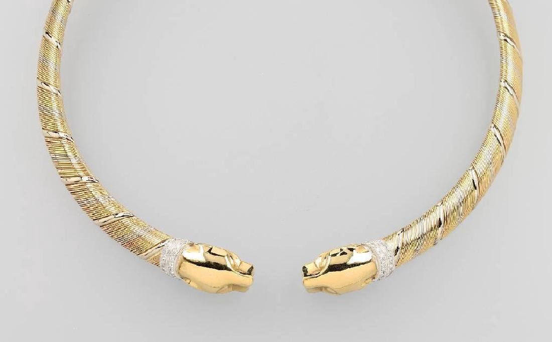 18 kt gold CARTIER circlet Cougar with brilliants
