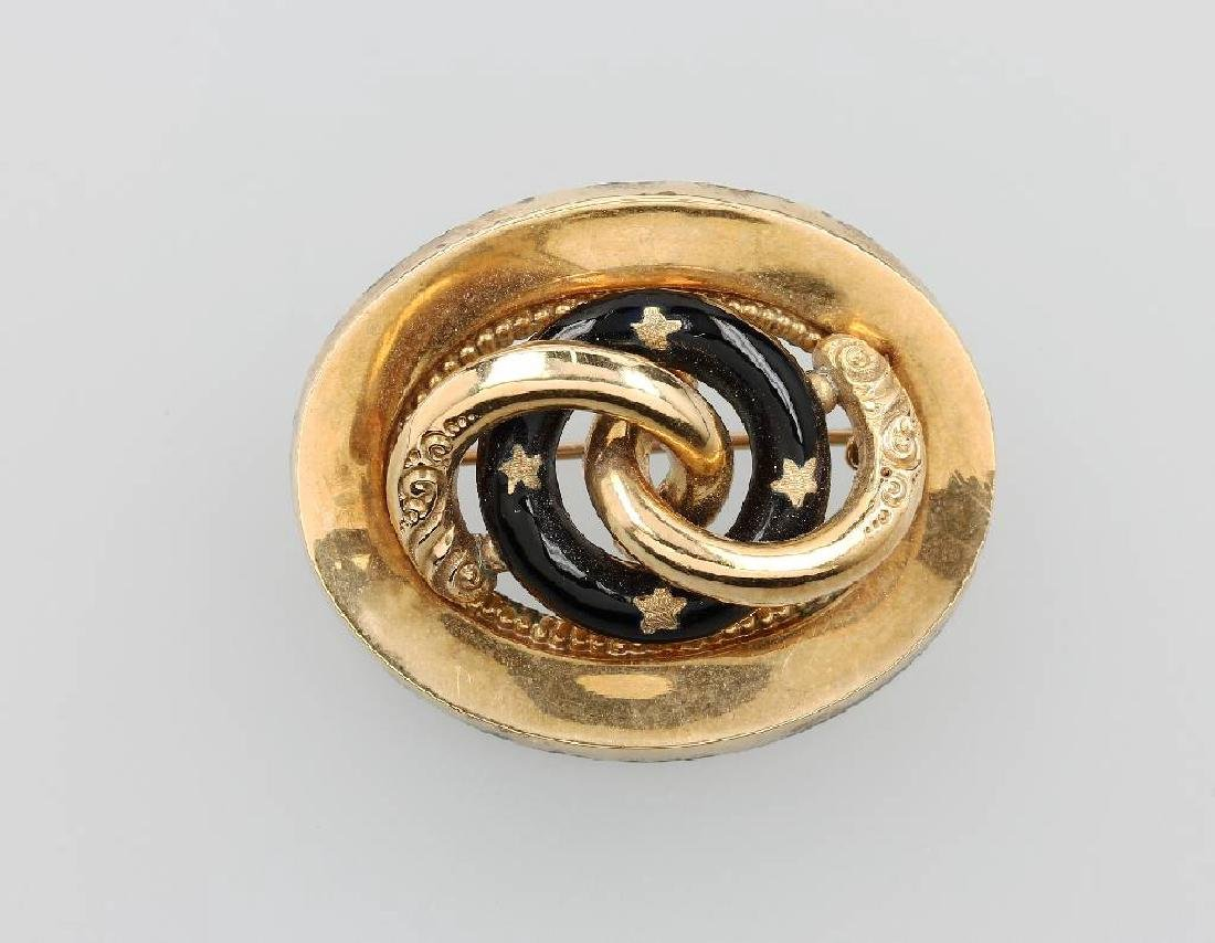 14 kt gold brooch, probably Vienna approx. 1840/50