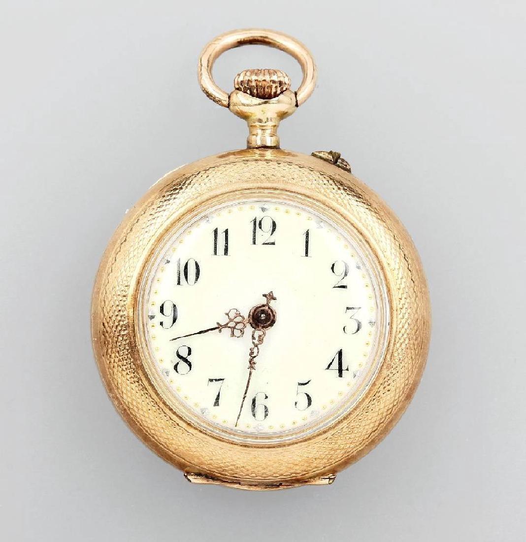 14 kt gold ladies' pocketwatch