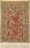 Silk & Metal-Thread Hereke 'Rug' (Paradise Design),