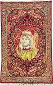 KirmanRavar Pictorial Rug Portrait Of Queen Boran