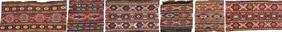 (6 Lots) Shahsavan-Sumakh 'Mafrash-Panels',
