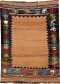 'Camel-Wool' Ground Varamin 'Sofreh-Kilim',
