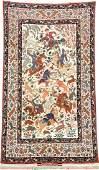Silk Ground Fine Isfahan 'Seirafian' Hunting-Rug