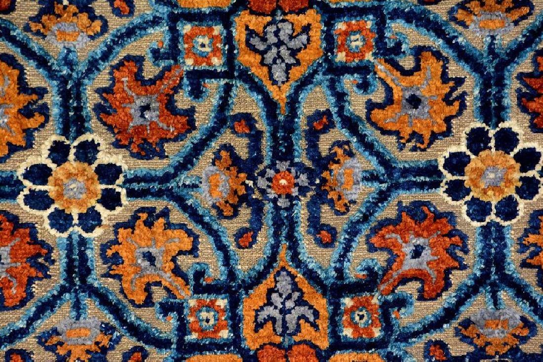 Important Early Silk & Gold-Metal-Thread Khotan 'Palace - 11