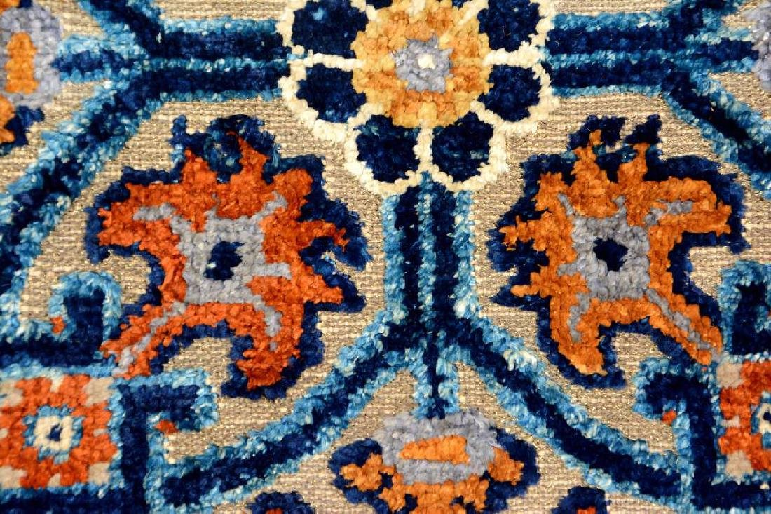 Important Early Silk & Gold-Metal-Thread Khotan 'Palace - 13