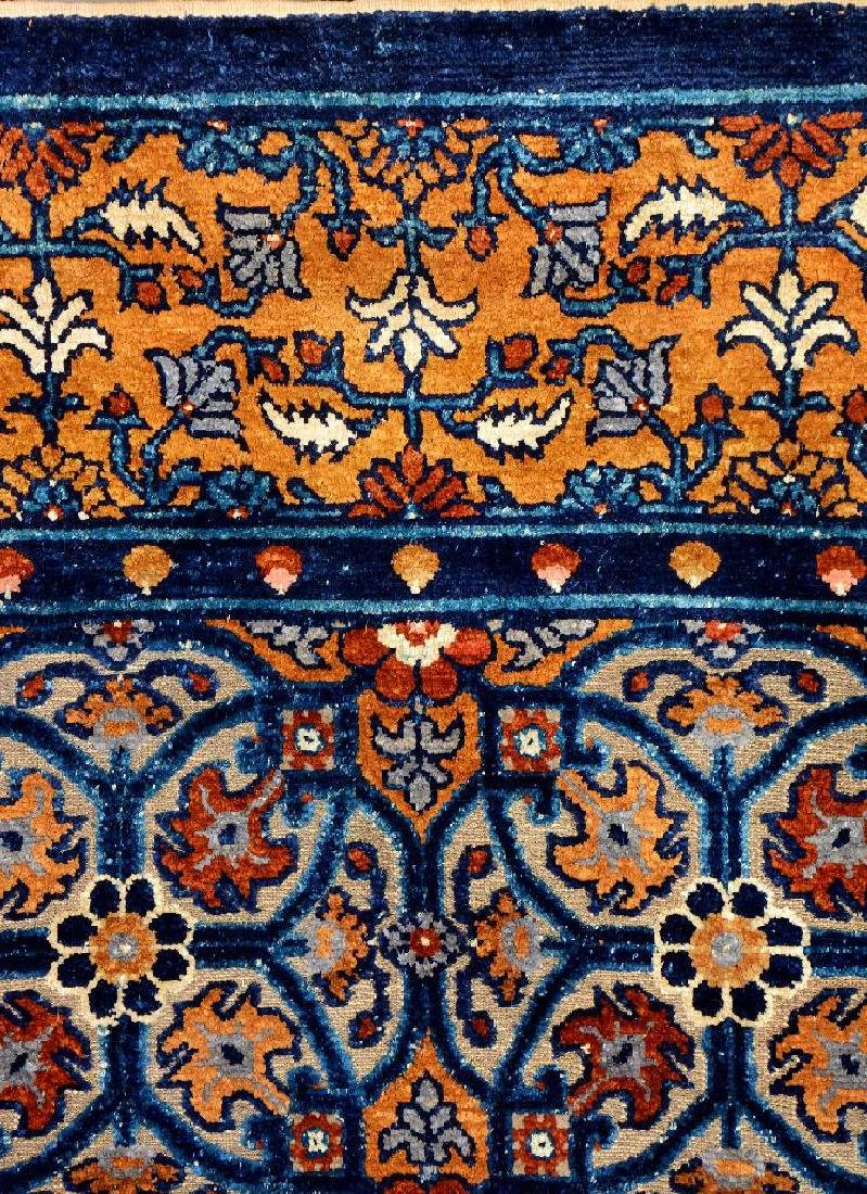 Important Early Silk & Gold-Metal-Thread Khotan 'Palace - 14