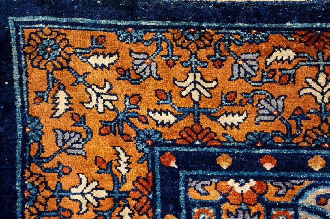 Important Early Silk & Gold-Metal-Thread Khotan 'Palace - 15
