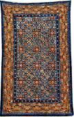 Important Early Silk  GoldMetalThread Khotan Palace