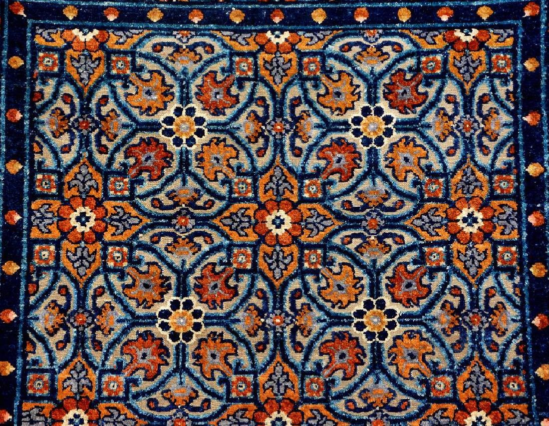 Important Early Silk & Gold-Metal-Thread Khotan 'Palace - 2