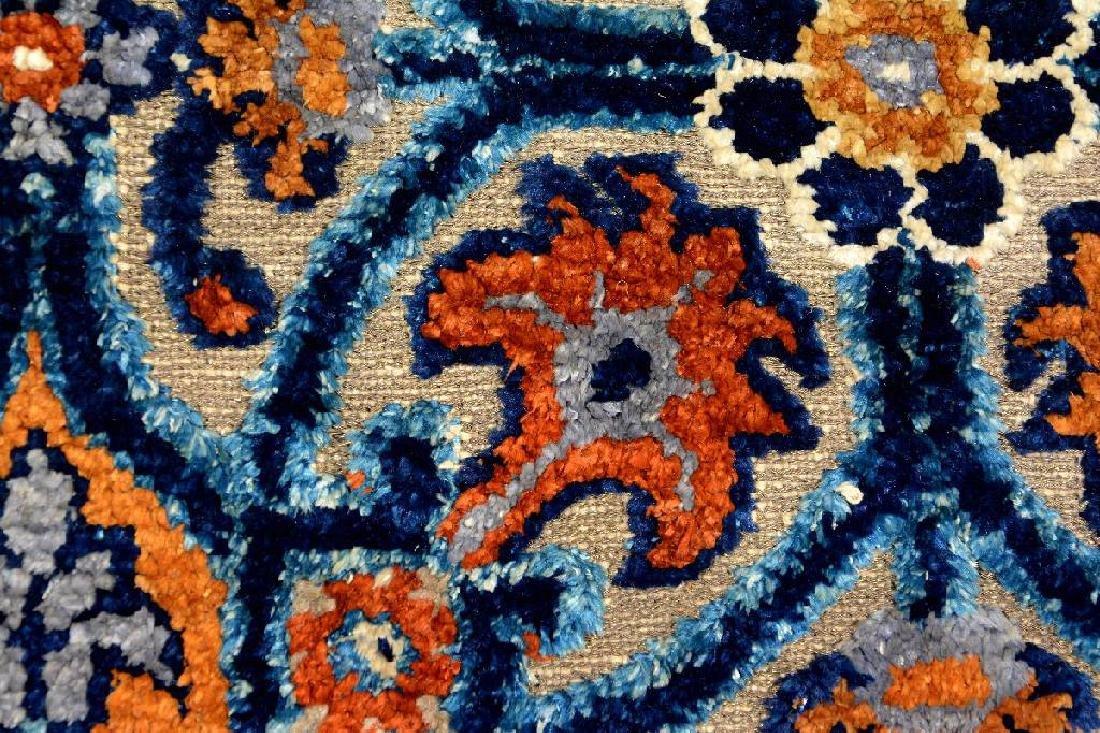 Important Early Silk & Gold-Metal-Thread Khotan 'Palace - 3