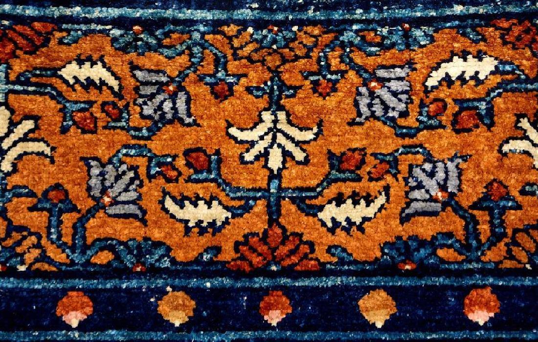 Important Early Silk & Gold-Metal-Thread Khotan 'Palace - 5
