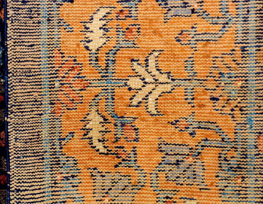 Important Early Silk & Gold-Metal-Thread Khotan 'Palace - 6