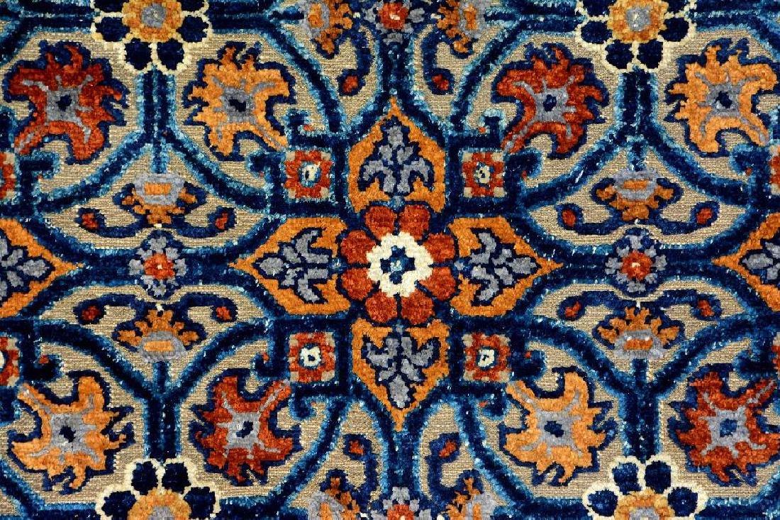 Important Early Silk & Gold-Metal-Thread Khotan 'Palace - 8