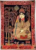 Northwest Persian Pictorial Rug Dervish Motif