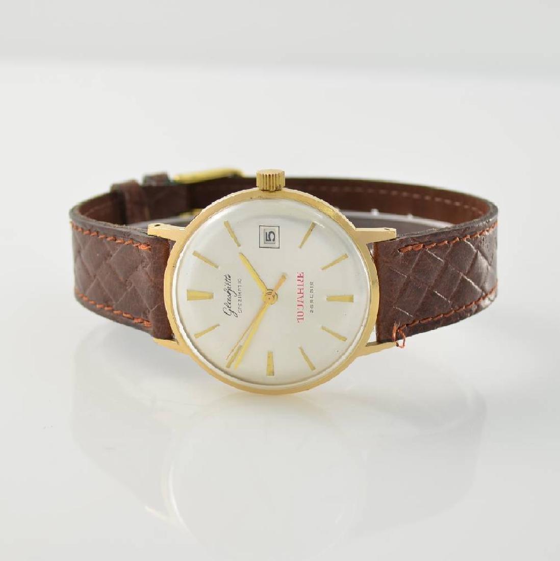 GLASHUTTE 2 gilt gents wristwatches, GDR around 1960