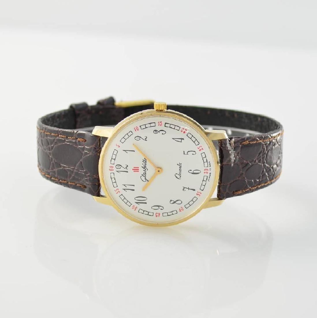 GLASHUTTE gents wristwatch, GDR around 1985