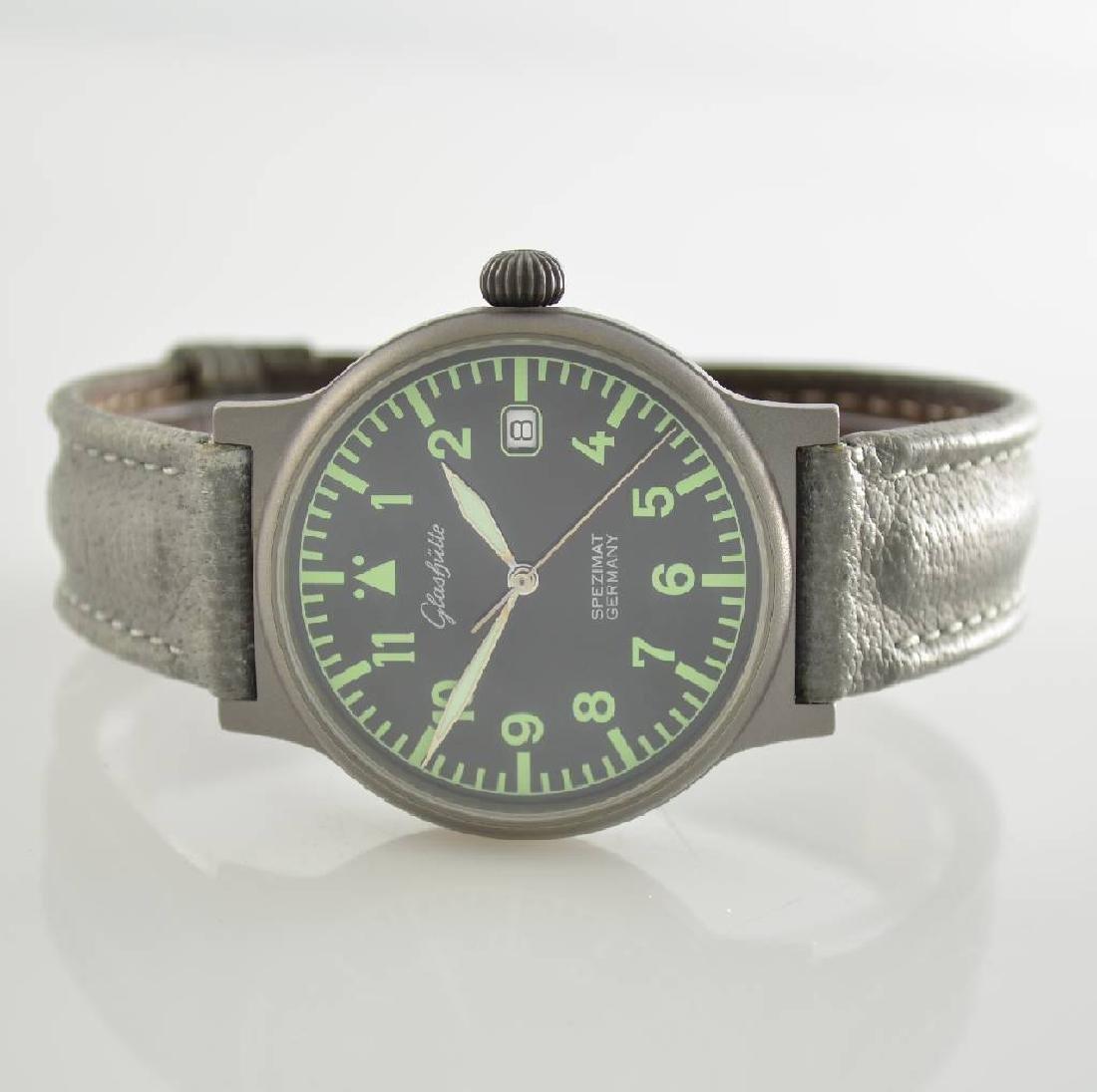 GLASHUTTE gents wristwatch Spezimat in pilot design