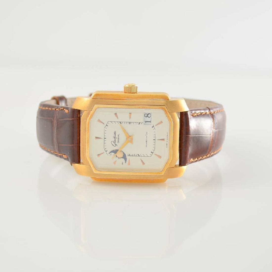 GLASHUTTE ORIGINAL 18k pink gold gents wristwatch