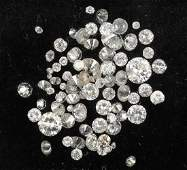 Lot loose diamonds total approx 503 ct