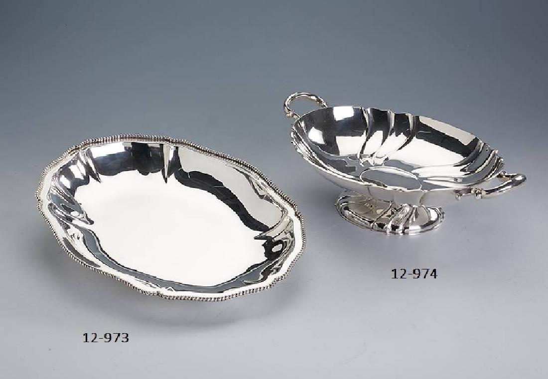KOCH & BERGFELD footed silver bowl with handles