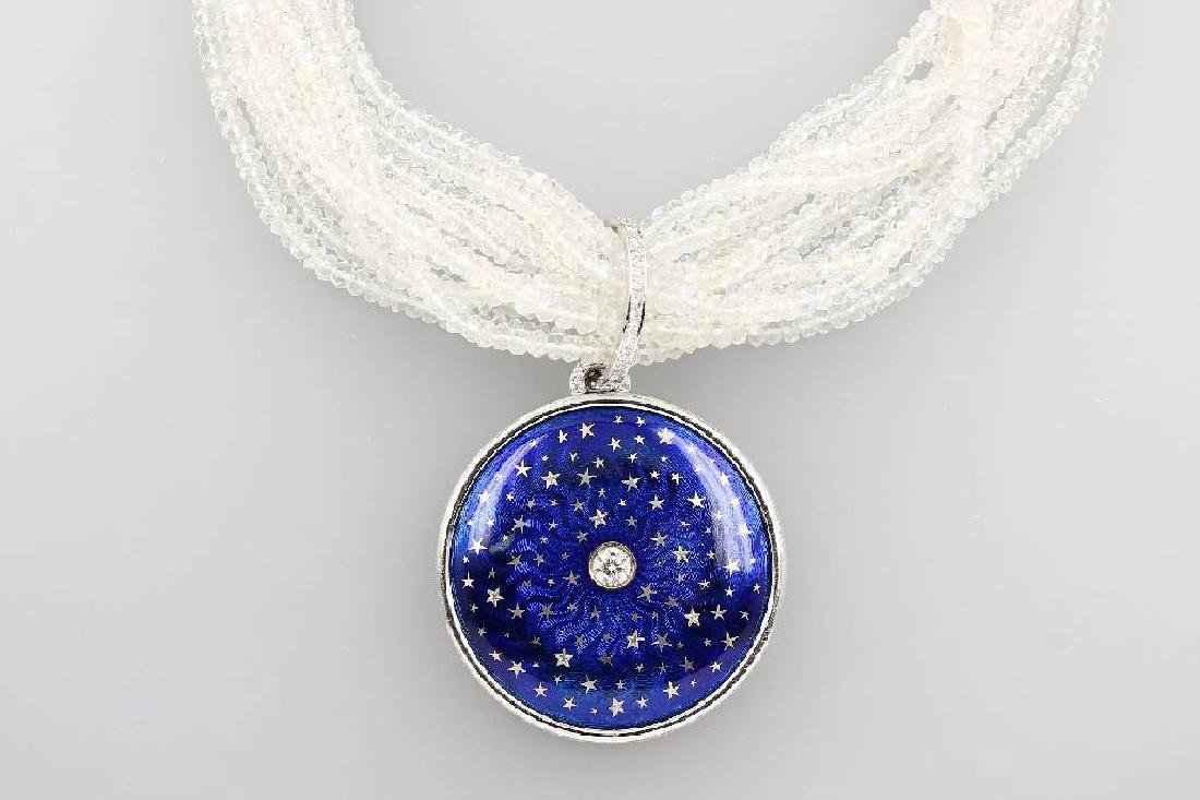 Necklace with enamel and brilliants