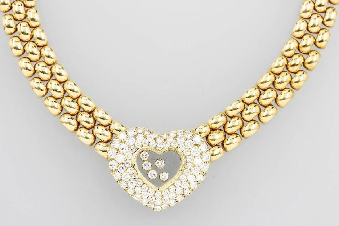 CHOPARD 18 kt gold necklace HAPPY DIAMONDS
