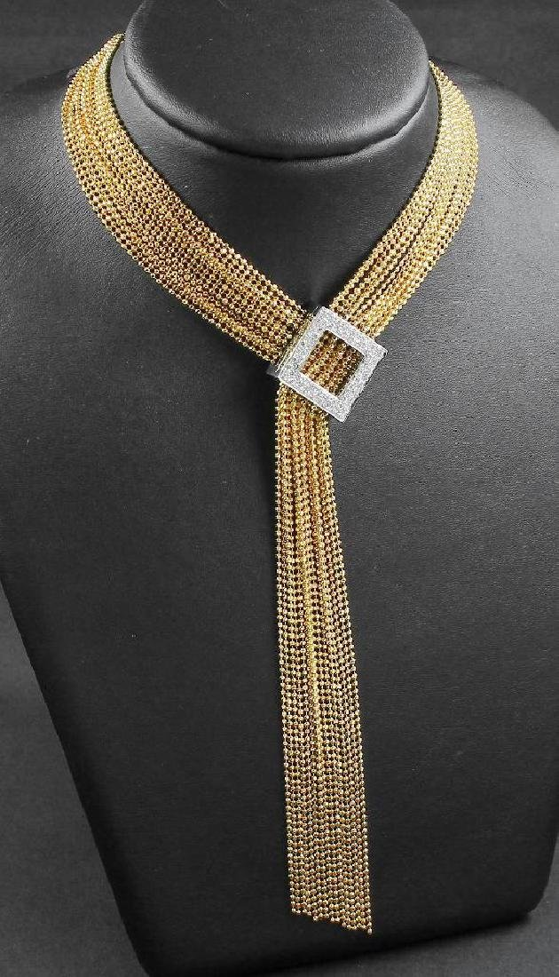 18 kt gold WEMPE Y-Necklace with brilliants