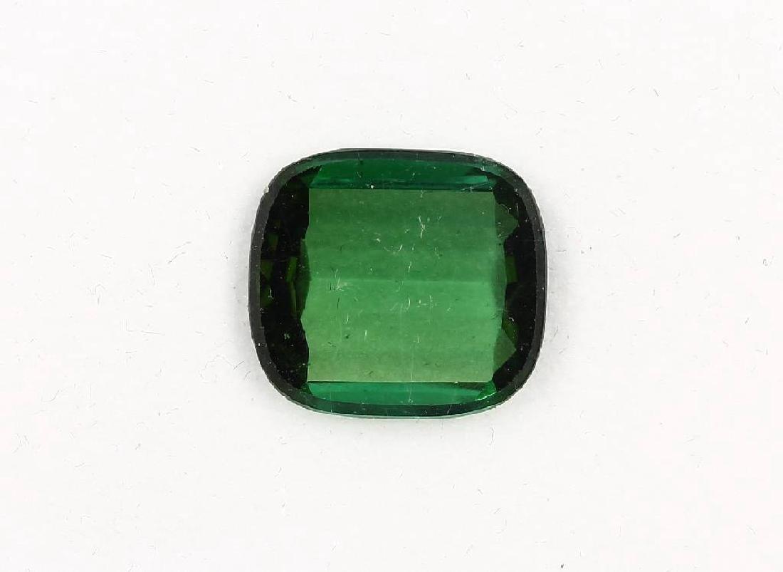 Loose green bevelled tourmaline