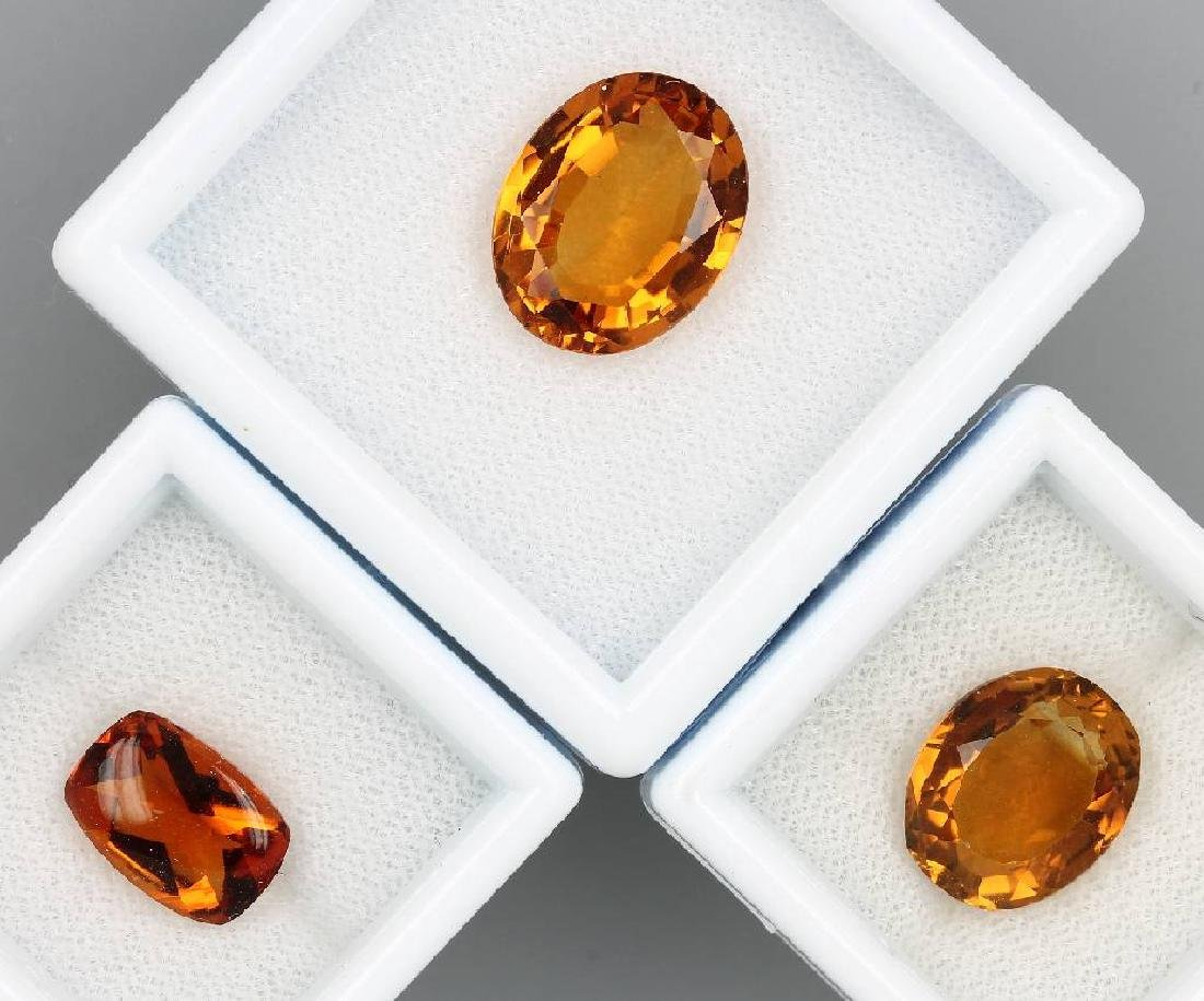 Lot 3 loose bevelled madeira citrines