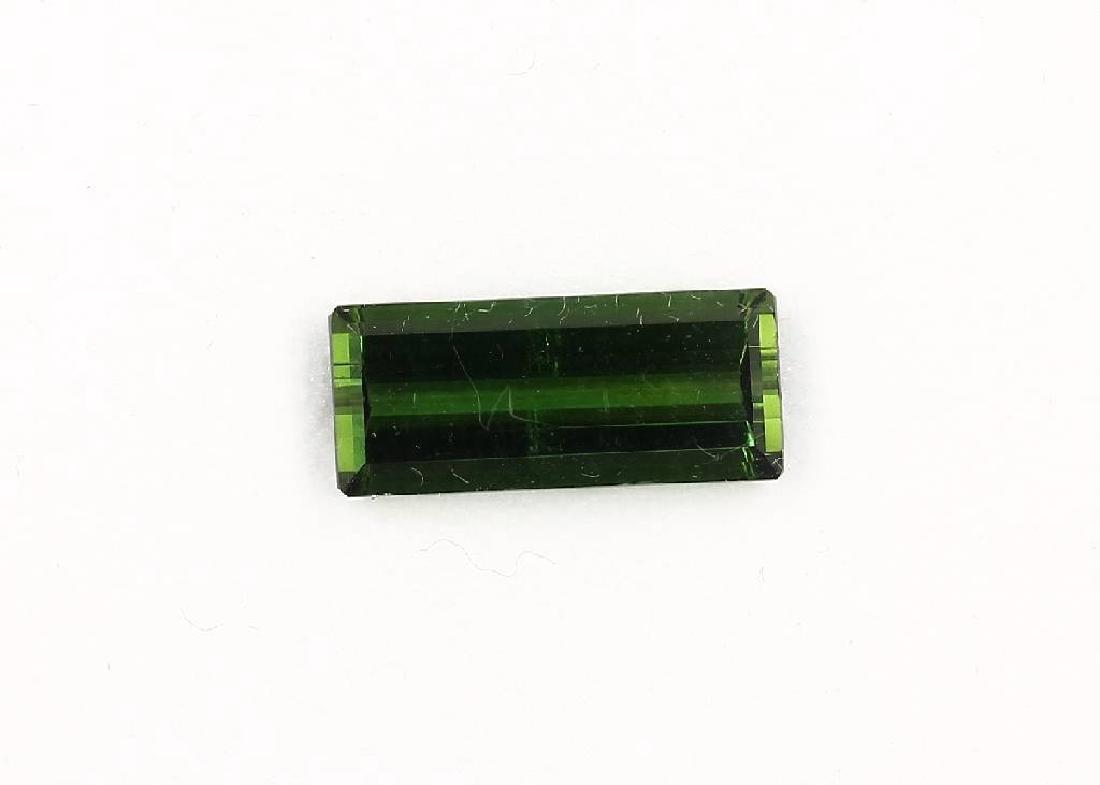 Loose green tourmaline-rectangle