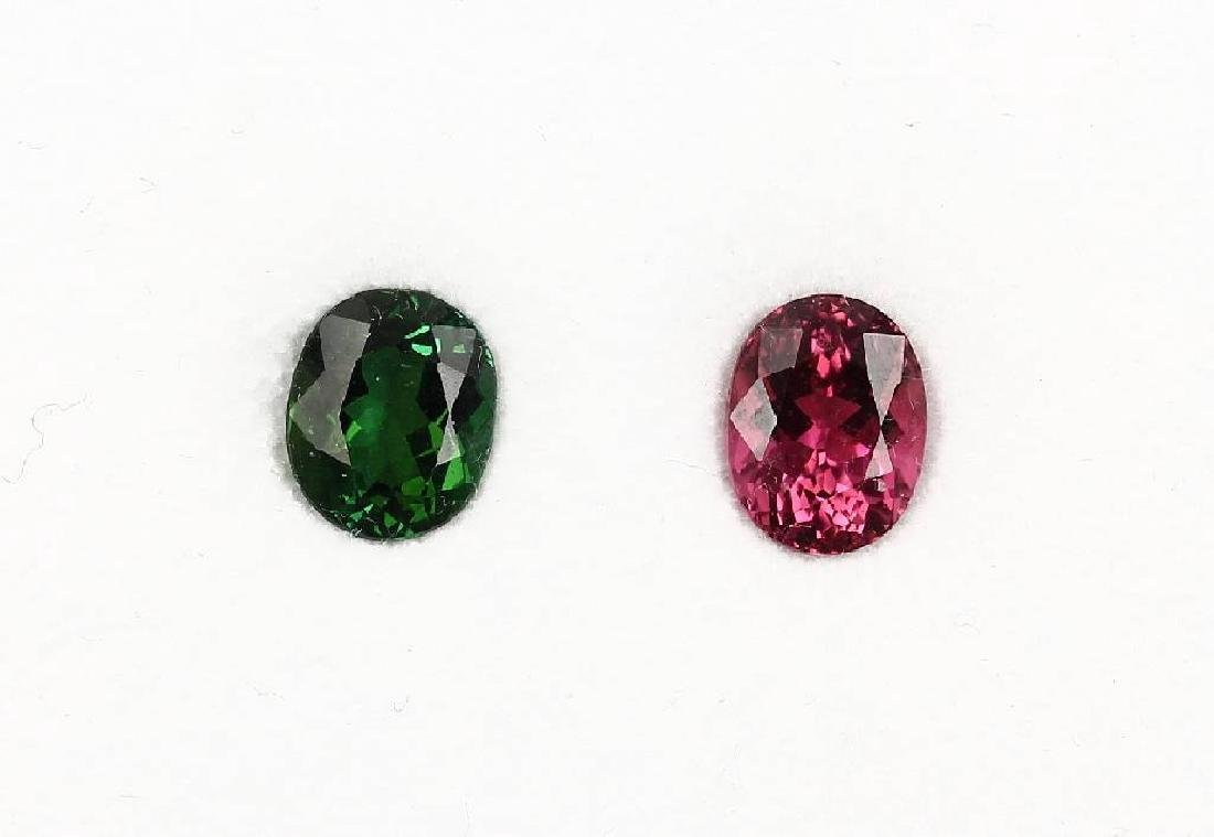 Lot 2 oval bevelled tourmalines
